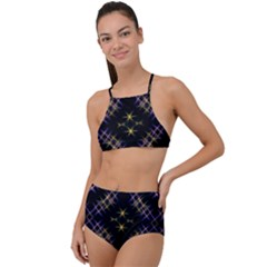Seamless Background Abstract Vector High Waist Tankini Set by Pakrebo