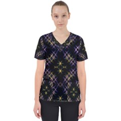 Seamless Background Abstract Vector Women s V Neck Scrub Top by Pakrebo
