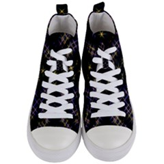 Seamless Background Abstract Vector Women s Mid Top Canvas Sneakers
