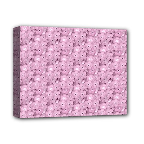 Texture Flower Background Pink Deluxe Canvas 14  X 11  (stretched) by Pakrebo