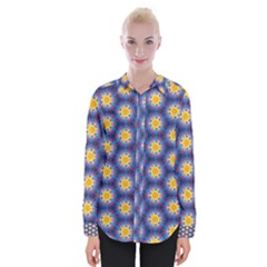 Graphic Pattern Seamless Womens Long Sleeve Shirt