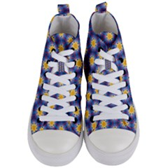 Graphic Pattern Seamless Women s Mid Top Canvas Sneakers