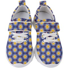 Graphic Pattern Seamless Kids  Velcro Strap Shoes