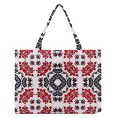 Ornament Seamless Pattern Element Zipper Medium Tote Bag