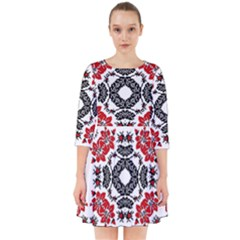 Ornament Seamless Pattern Element Smock Dress