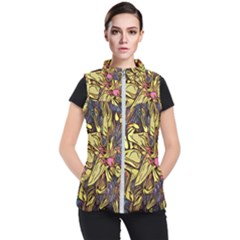 Lilies Abstract Flowers Nature Women s Puffer Vest