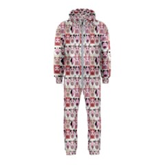 Graphic Seamless Pattern Pig Hooded Jumpsuit (kids)