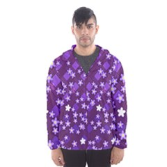 Textile Cross Pattern Square Hooded Windbreaker (men)