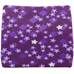Textile Cross Pattern Square Seat Cushion