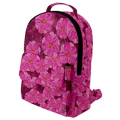 Cherry Blossoms Floral Design Flap Pocket Backpack (small)