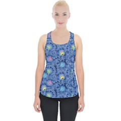 Floral Design Asia Seamless Pattern Piece Up Tank Top