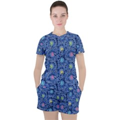 Floral Design Asia Seamless Pattern Women s Tee And Shorts Set