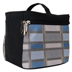 Abstract Seamless Fabric Blue Make Up Travel Bag (small)