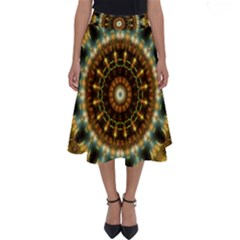 Pattern Abstract Background Art Perfect Length Midi Skirt