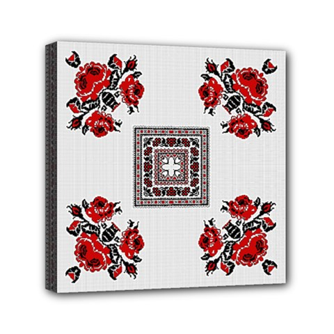 Ornament Pattern Background Design Mini Canvas 6  X 6  (stretched)
