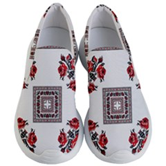 Ornament Pattern Background Design Women s Lightweight Slip Ons by Pakrebo