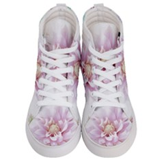 Abstract Transparent Image Flower Women s Hi Top Skate Sneakers
