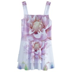 Abstract Transparent Image Flower Kids  Layered Skirt Swimsuit