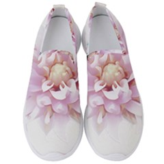 Abstract Transparent Image Flower Men s Slip On Sneakers