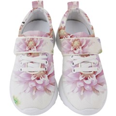 Abstract Transparent Image Flower Kids  Velcro Strap Shoes