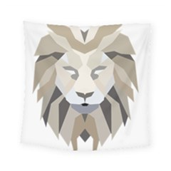 Polygonal Low Poly Lion Feline Square Tapestry (small)