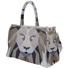 Polygonal Low Poly Lion Feline Duffel Travel Bag
