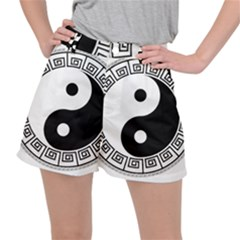 Yin Yang Eastern Asian Philosophy Stretch Ripstop Shorts