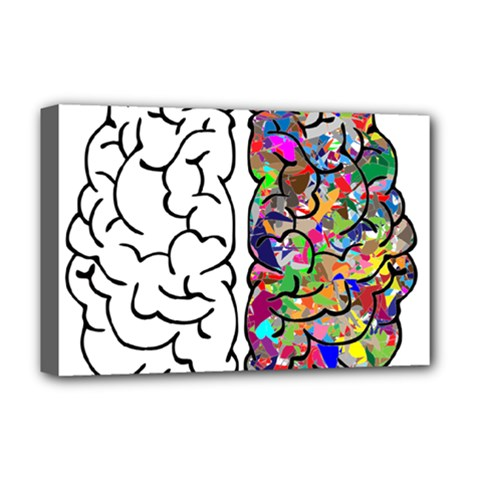 Brain Mind A I Ai Anatomy Deluxe Canvas 18  X 12  (stretched)