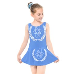 Flag Of Iaea Kids  Skater Dress Swimsuit