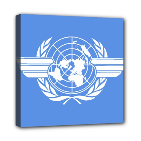 Flag Of Icao Mini Canvas 8  X 8  (stretched) by abbeyz71
