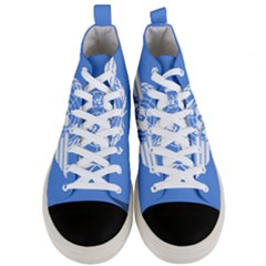 Flag Of Icao Men s Mid Top Canvas Sneakers