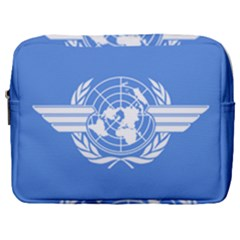 Flag Of Icao Make Up Pouch (large) by abbeyz71
