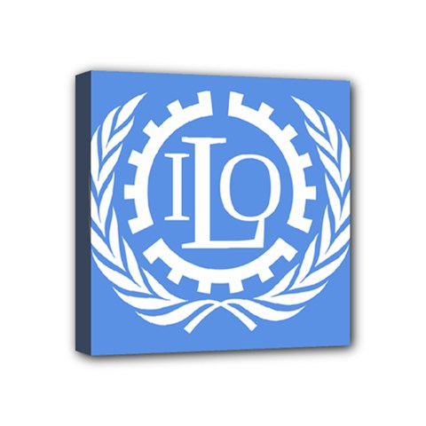 Flag Of International Labour Organization Mini Canvas 4  X 4  (stretched) by abbeyz71