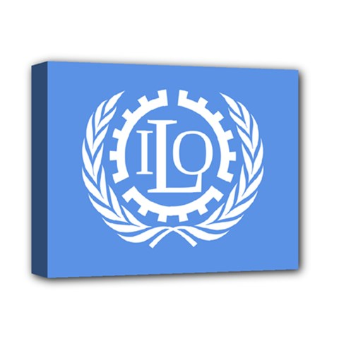 Flag Of International Labour Organization Deluxe Canvas 14  X 11  (stretched) by abbeyz71