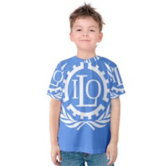 Flag Of International Labour Organization Kids  Cotton Tee
