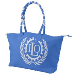 Flag Of International Labour Organization Canvas Shoulder Bag by abbeyz71
