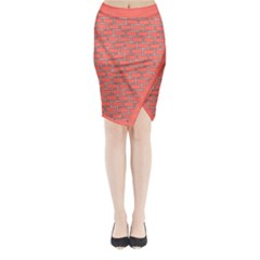 Brick Wall Midi Wrap Pencil Skirt by TimelessFashion