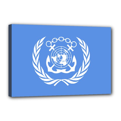 Flag Of International Maritime Organization Canvas 18  X 12  (stretched)