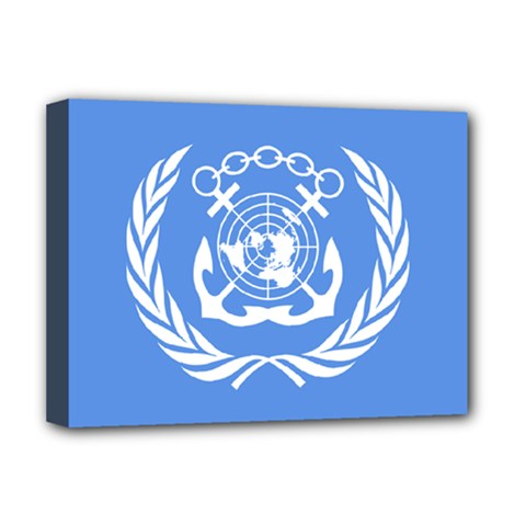 Flag Of International Maritime Organization Deluxe Canvas 16  X 12  (stretched)  by abbeyz71