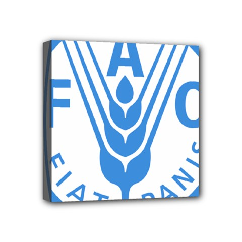 Logo Of Food And Agriculture Organization Mini Canvas 4  X 4  (stretched) by abbeyz71