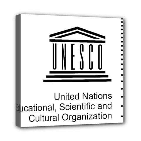 Logo Of Unesco Mini Canvas 8  X 8  (stretched) by abbeyz71