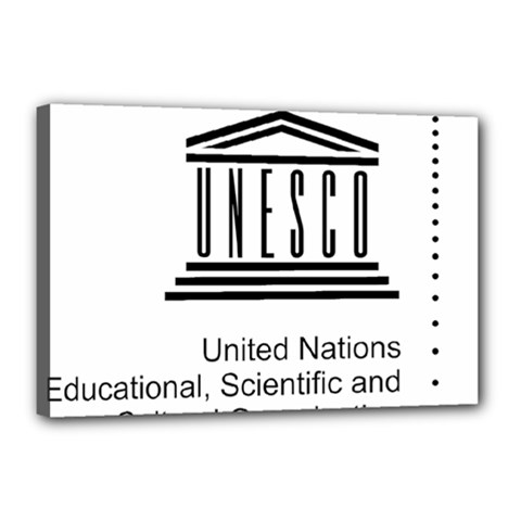 Logo Of Unesco Canvas 18  X 12  (stretched) by abbeyz71
