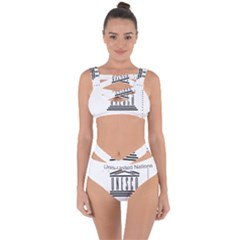 Logo Of Unesco Bandaged Up Bikini Set
