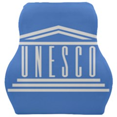 Flag Of Unesco Car Seat Velour Cushion  by abbeyz71