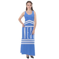 Flag Of Unesco Sleeveless Velour Maxi Dress
