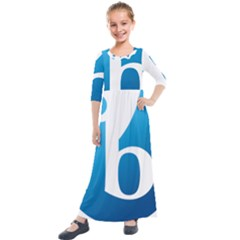 International Baccalaureate Logo Kids  Quarter Sleeve Maxi Dress by abbeyz71