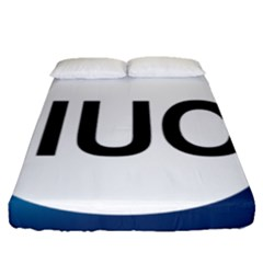 Logo Of International Union For Conservation Of Nature Fitted Sheet (queen Size) by abbeyz71