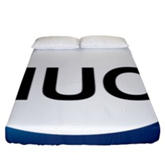 Logo Of International Union For Conservation Of Nature Fitted Sheet (king Size) by abbeyz71