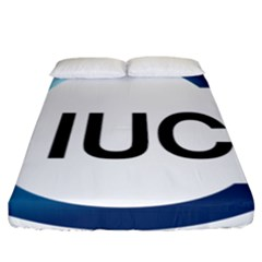 Logo Of International Union For Conservation Of Nature Fitted Sheet (california King Size) by abbeyz71