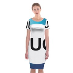 Logo Of International Union For Conservation Of Nature Classic Short Sleeve Midi Dress